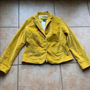 3/$30 Eddie Bauer Mustard Velvet Jacket Size SP